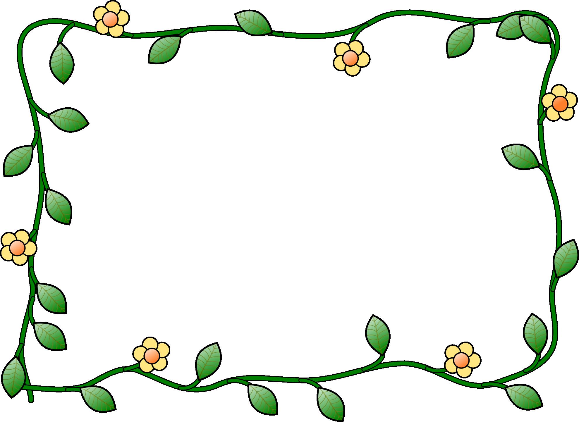 Зелёные ветви с цветочками. Открыть в ...: windoworld.ru/frames/8