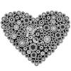 Сердце из кружков