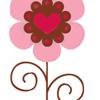Цветок с сердечком