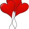 Воздушные шарики валентинки