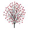 Дерево с сердечками