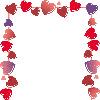 Рамка из сердечек
