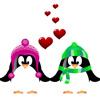 Пингвины в шапочках