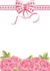 Розы и бантик