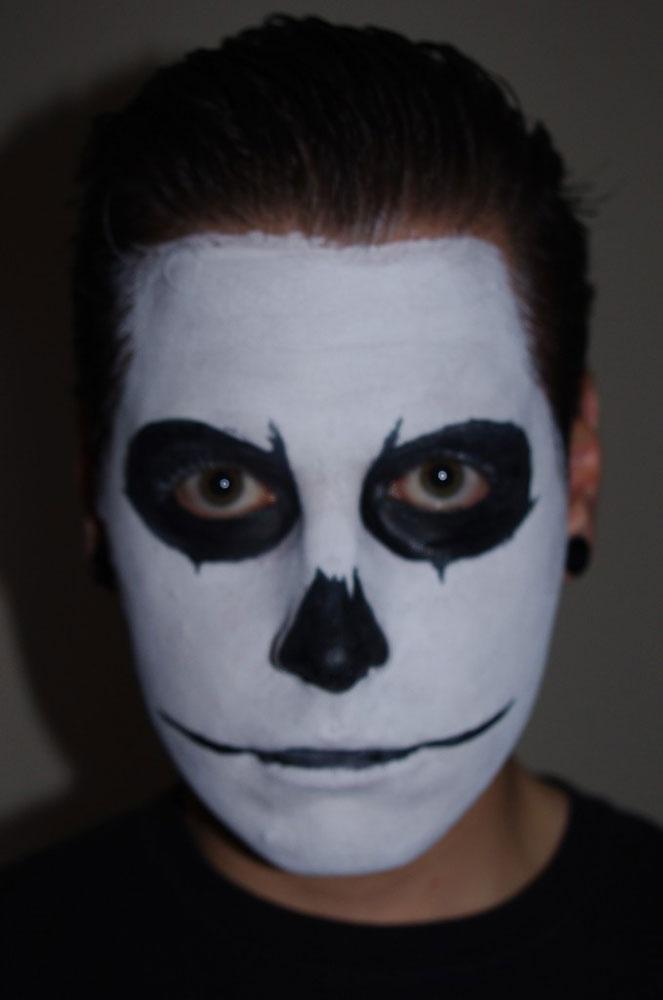 Раскраски лица на хэллоуин для мальчиков - 6