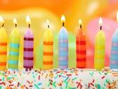 Свечи в торте