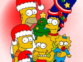 Симпсоны у новогодней ёлки