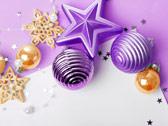 Фиолетовые и золотые