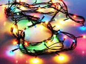 Разноцветная гирлянда фонариков