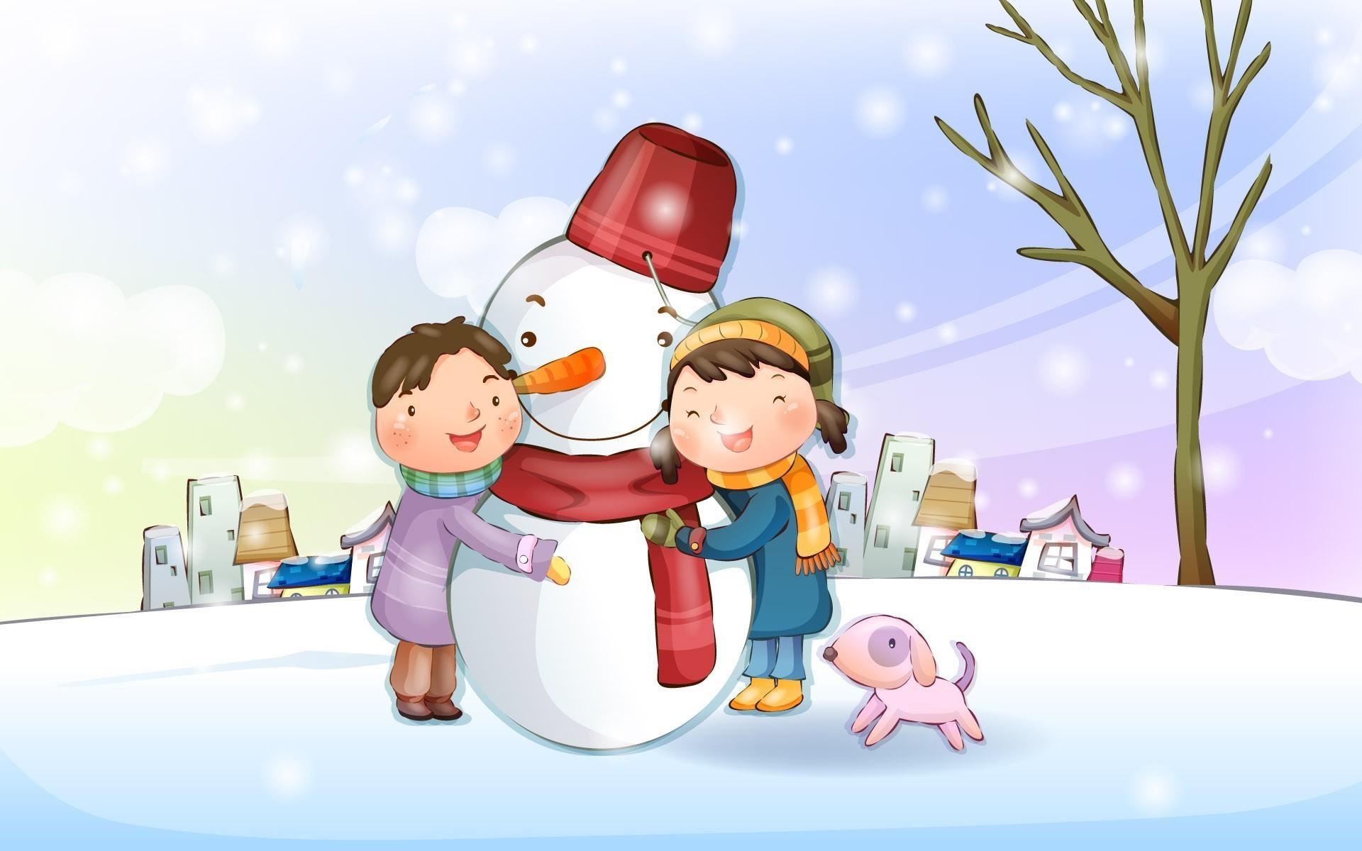 что открытка лепим снеговика посреди морозов метелей