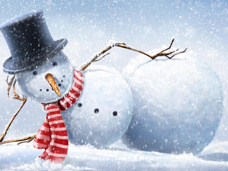 Новогодние Обои Со Снеговиками На Рабочий Стол